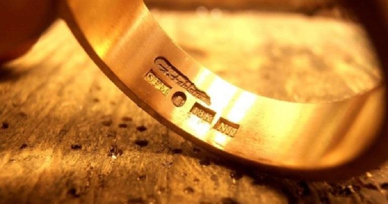 Клеймо на белом золоте