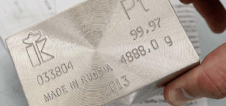 Курс платины на сегодня в Сбербанке России: онлайн-график котировок, цена за 1 грамм